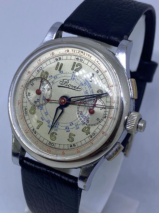 """Bovet - Chronograph with Flyback - L46 - """"NO RESERVE PRICE"""" - Herren - 1901-1949"""