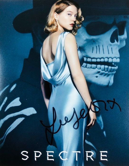 James Bond 007: Spectre - Lea Seydoux as Madeleine Swann - Foto, Handtekening, Signed with Certified Genuine b´bc holographic COA
