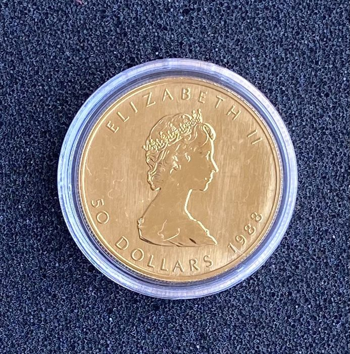 Kanada. 50 Dollars 1988 Maple Leaf, 1 oz