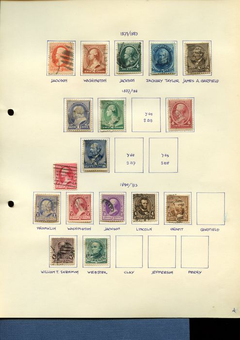États-Unis 1875 - USA stamps and series with beautiful values
