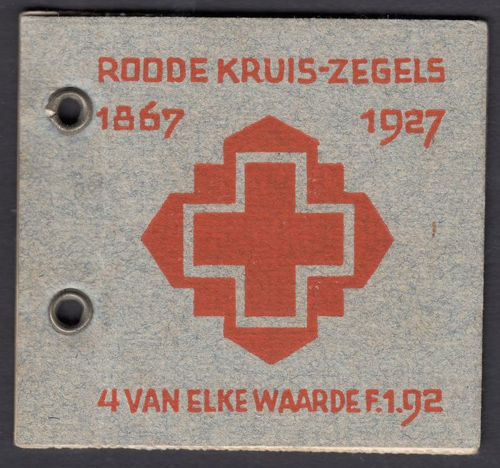 Pays-Bas 1927 - Red Cross stamp booklet - NVPH PZ39-L