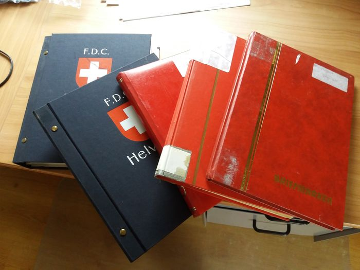 Switzerland 1880/2002 - Collection with somewhat older material Two books with FDCs