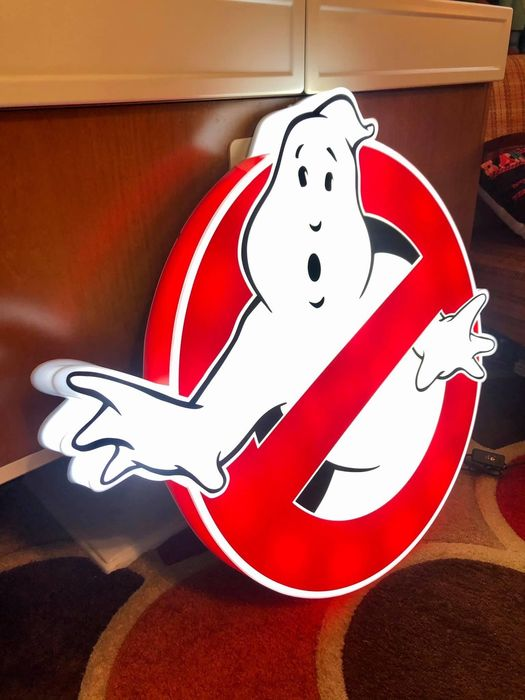 Ghostbusters - The World famous Logo as a 3D Illuminated Sign - LED (70x70x8 cm) - Lamp