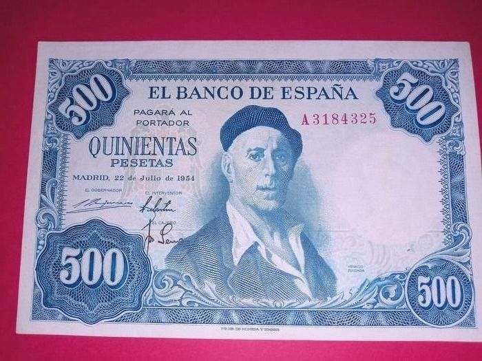 Spain - 6 banknotes - Various dates