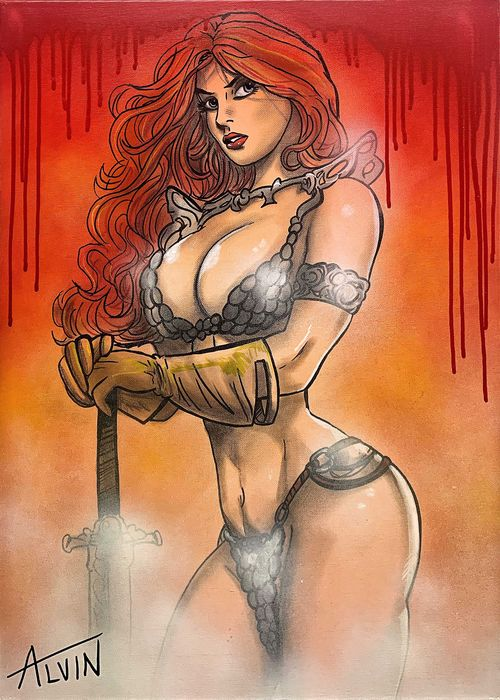 Red Sonja - Barbarian Girl by: Alvin Silvrants