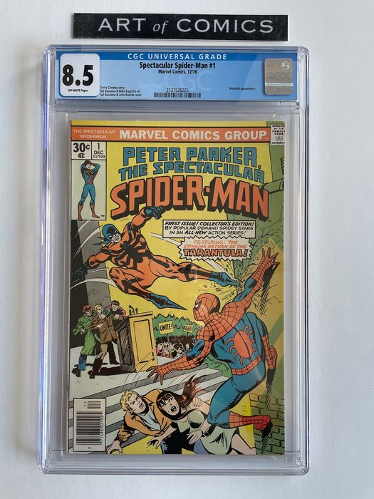 Peter Parker The Spectacular Spider-Man #1 - Tarantula Appearance - Key Book - CGC Graded 8.5 - Very High Grade!! - Softcover - Eerste druk - (1976)