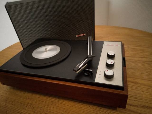 Dux of Sweden (Philips Sweden) - Nice and stylish Dux 8460 portable turntable. Both battery driven as well as 220 - Draaitafel, Speaker