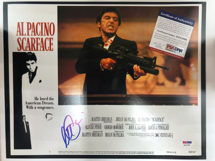 Scarface (1983) - Al Pacino is Tony Montana - Handtekening, Poster - Hand-Signed with COA and matching hologram