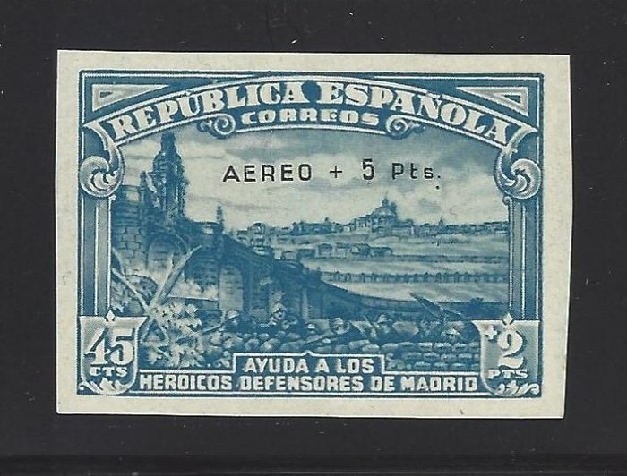 Spain 1938 - Siege of Madrid, imperforated - Edifil 759s