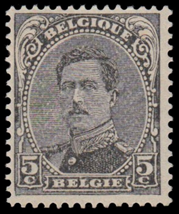 Belgique 1915 - 5 centimes Houyoux in black instead of green - Three known copies with FNIP certificate - OBP / COB 137 - CU