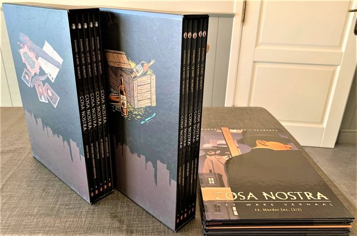 Cosa Nostra 1 t/m 14 - In twee Boxen + A3 Ex-Libris - Hardcover - First edition - (2007/2008)
