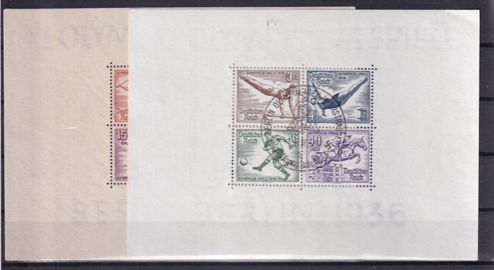 German Empire 1936 - Olympische Spiele - Michel BL 5/6