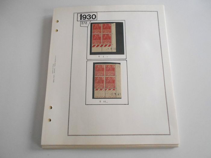 France 1930/1943 - Large set of semi-modern varieties, quite comprehensive, including uncatalogued varieties - Yvert Entre les n°272 et 583