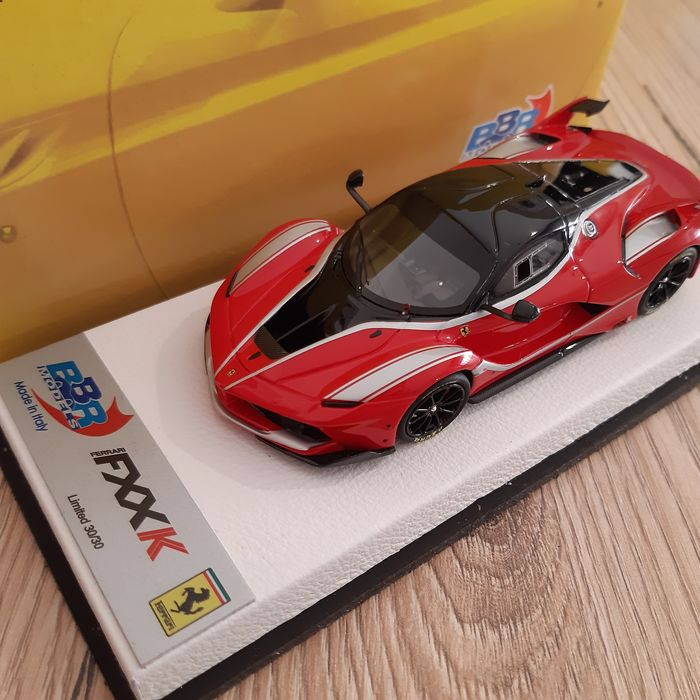 BBR - 1:43 - Ferrari FXX K Red - 30 examples in the world - with guarantee certificate and authentic signature of the F. Reali pilot