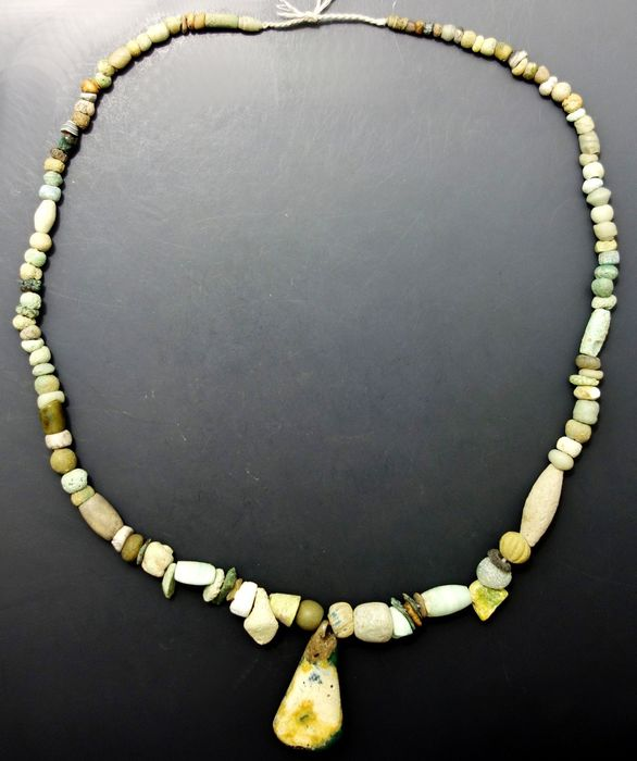Phoenician Faience , Glass and Stone Beads -  440mm long approx