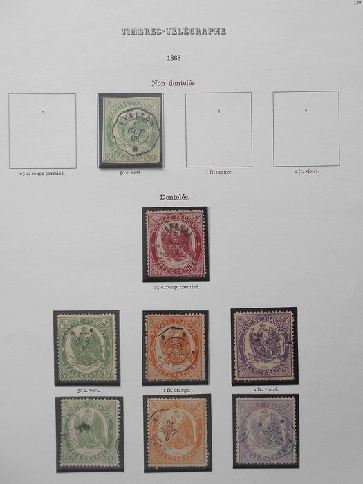 Frankreich 1868/1987 - Set with end of catalogue, military postage, airmail, telegraph stamps and pre-postmarked stamps - Yvert