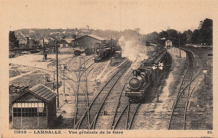 France - Steam trains and some stations (beautiful whole) - Postcards (37) - 1920