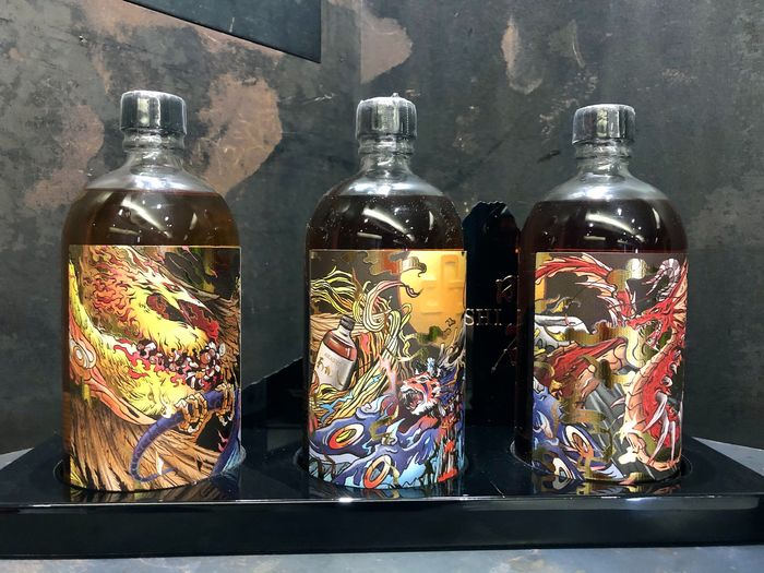Akashi Single Cask Series Exclusively Released for Asia The Battle of Divinity - 700ml - 3 flessen