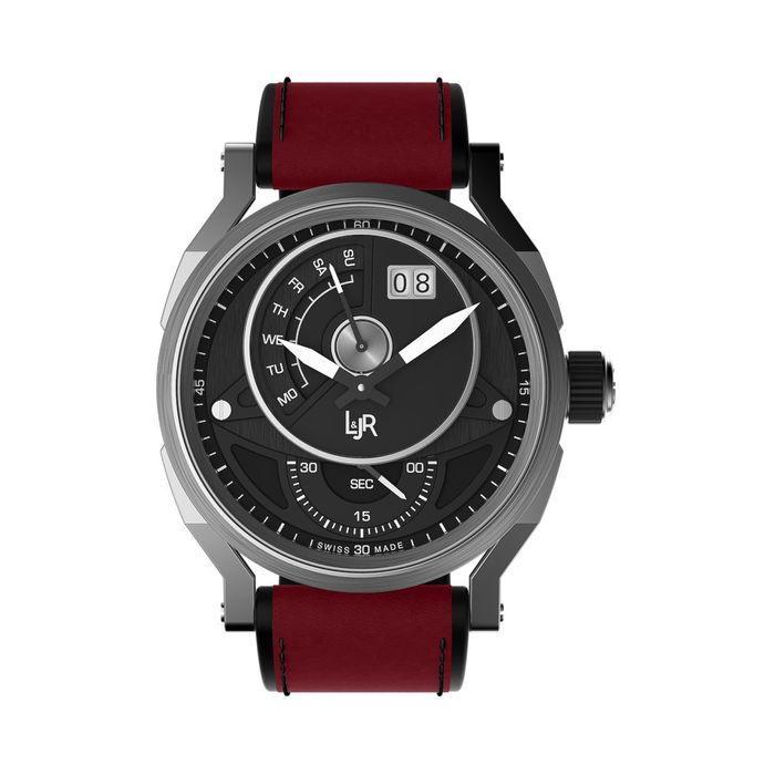 L&JR - Day and Date Steel Black Burgundy Red - S1302-S12 - Uomo - 2011-presente