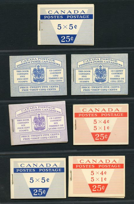 Canada 1950/2010 - Several booklets of the period