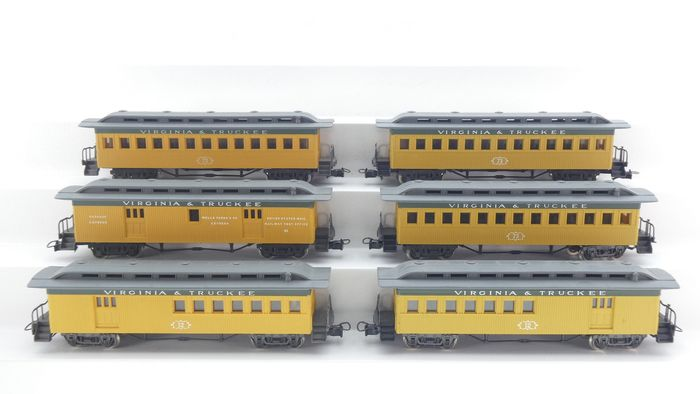 Rivarossi H0 - 2994/2993 - Passenger carriage - 6x persons and luggage coaches - Virginia & Truckee