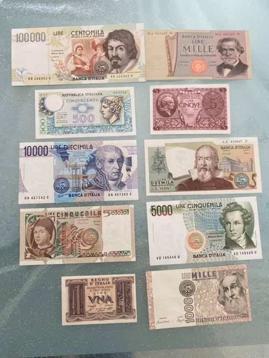 Italy - 10 banconote - varie anni