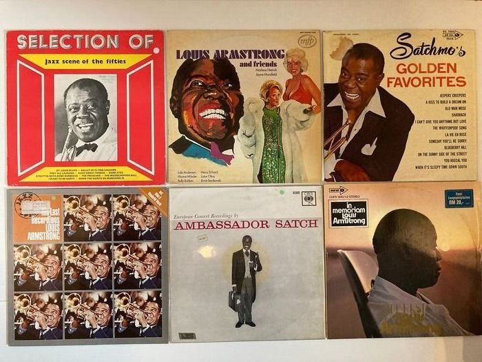 Various Artists/Bands in Jazz - Louis Armstrong and many more in Jazz & Blues, 22 LP's - 2x LP Album (Doppelalbum), LP Album - 1968/1981