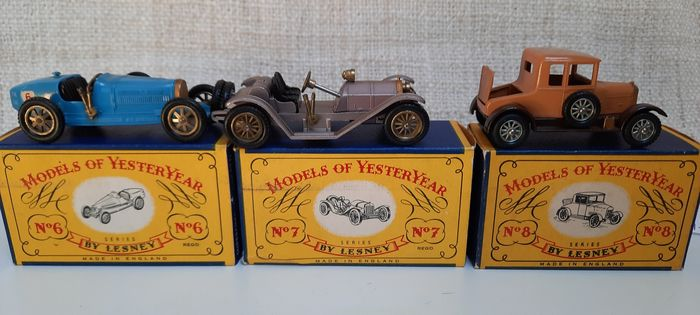 Matchbox - 1:50 - Y6 Bugatti - Y7 Mercer - 8 Morris - model-