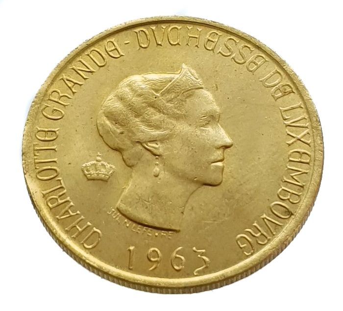 Luxembourg. 20 Francs 1963 Charlotte