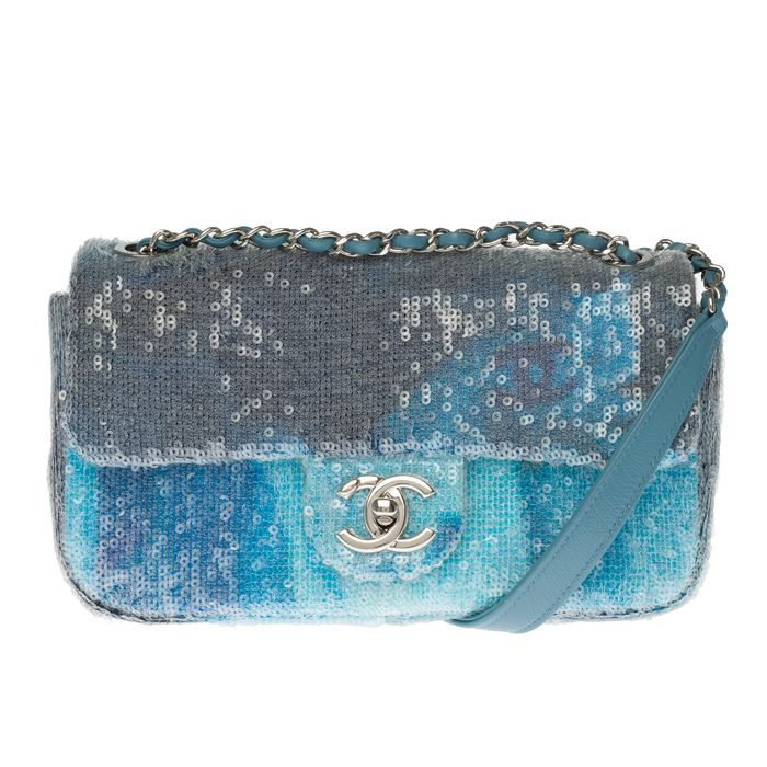 Chanel - Limited Edition/Collectable/ Timeless Runway limited edition - Sac Timeless Waterfall Sequins Handtas