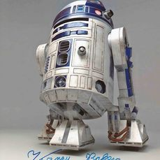 Star Wars - Kenny Baker (+) was R2-D2 - Autografo, Foto, with COA