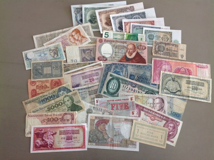 Wereld - Europa - 41 banknotes - including better - Various dates
