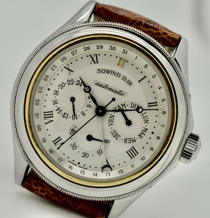 """JeanRichard - Sowind Girard Perregaux AUTOMATIC """"Full Calendar Power Reserve"""" - NO RESERVE PRICE - Hombre - 1990-1999"""