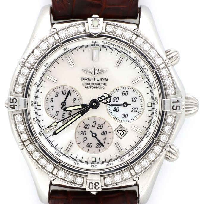 Breitling - Shadow Flyback MOP & Diamond - A35312 '' NO RESERVE PRICE '' - Men - 2000-2010