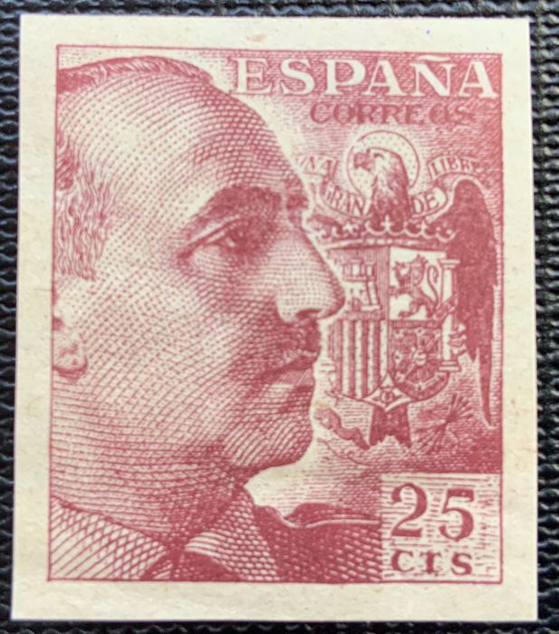 Spanien 1949 - General Franco, imperforated variety - Edifil 1048s