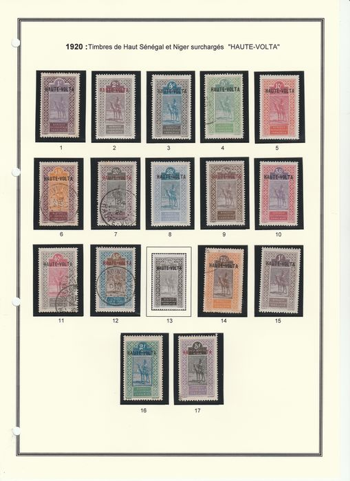 Franse kolonie 1920/1931 - A lovely complete collection from Upper Volta: postage and postage due stamps. - Yvert Entre les n°1 et 69 + Taxes
