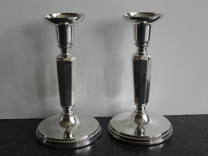 Candlestick (2) - .830 silver - Sweden - Late 20th century