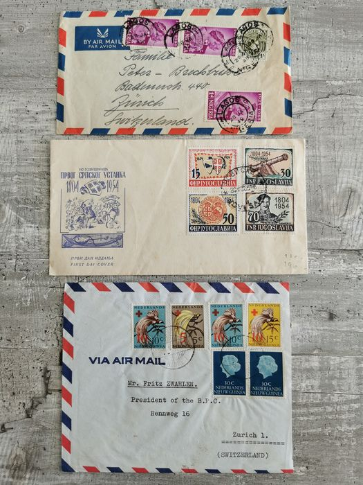 World 1880/2011 - Various letter from all over the world, from old to contemporary