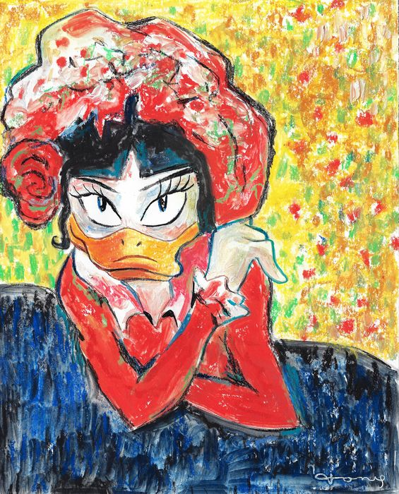 Daisy Duck inspired by Picasso's The Wait (Margot) - Original Painting - Tony Fernandez