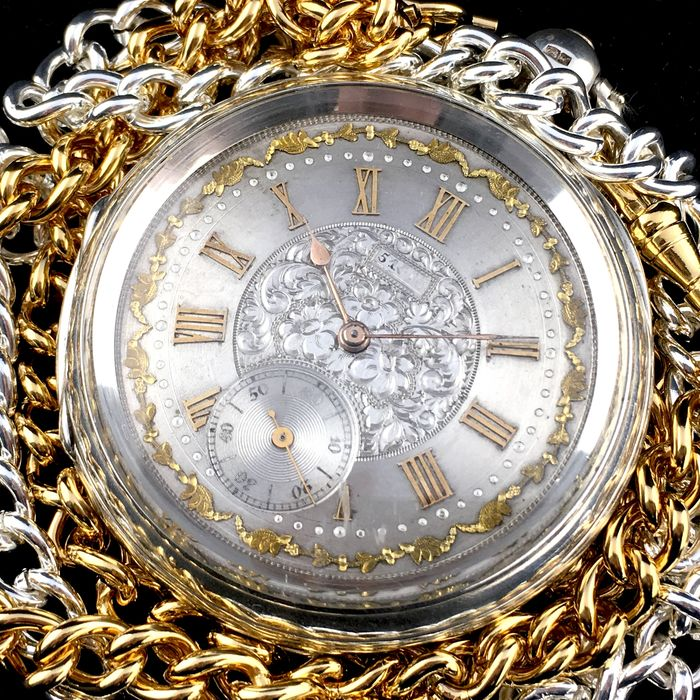 Anderson - The London Lever Registered Silver Pocket watch - NO RESERVE PRICE - Herren - ca. 1900