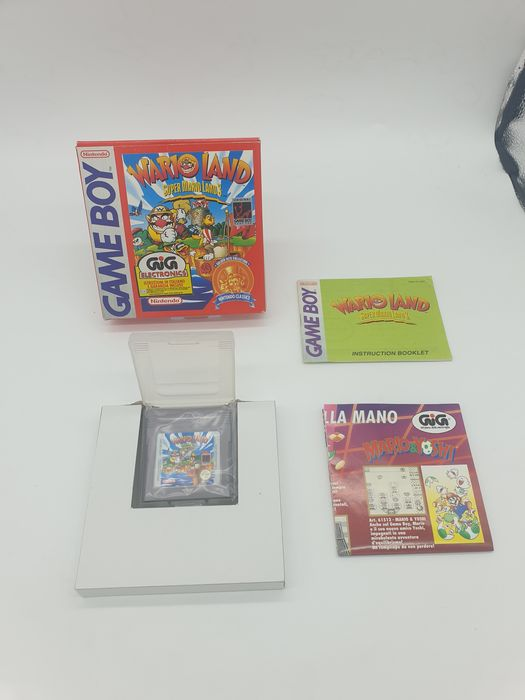 Nintendo, Rare Super Nintendo Game boy  Super Mario Land 3: WARIOLAND 1st Edition Classic Series GIG Boxed Nintendo Super Gameboy DMG-WJ-EUR GIG ITA - Videogames - In originele verpakking