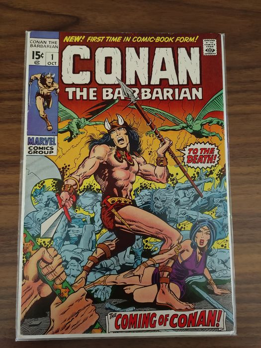 Conan the Barbarian #1 - First Appearance and Origin of Conan the Barbarian - Key Issue! - Very High Grade!! - Geniet - Eerste druk - (1970)