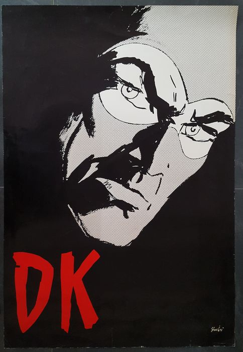 "Diabolik - Affisso Originale ""DK"" - Loose page - First edition - (1972)"