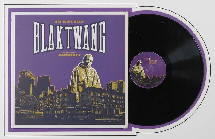"Blaktwang featuring Jamali , sleeve design by 'Banksy' - So Rotton - Maxi Single 12""inch - 2002"