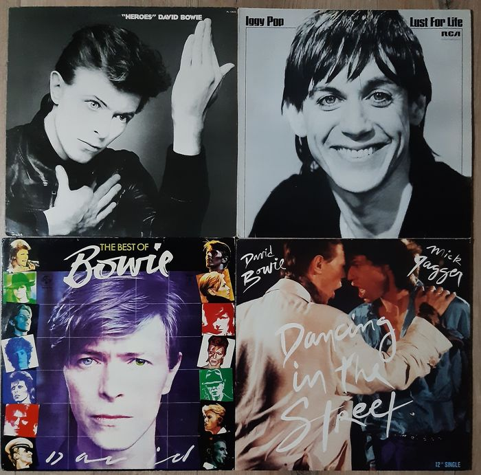 """Iggy Pop, David Bowie - Heroes / Lust for life / Best of Bowie / Dancing in the street - Diverse Titel - LP's, Maxi Single 12"""" - 1977/1985"""