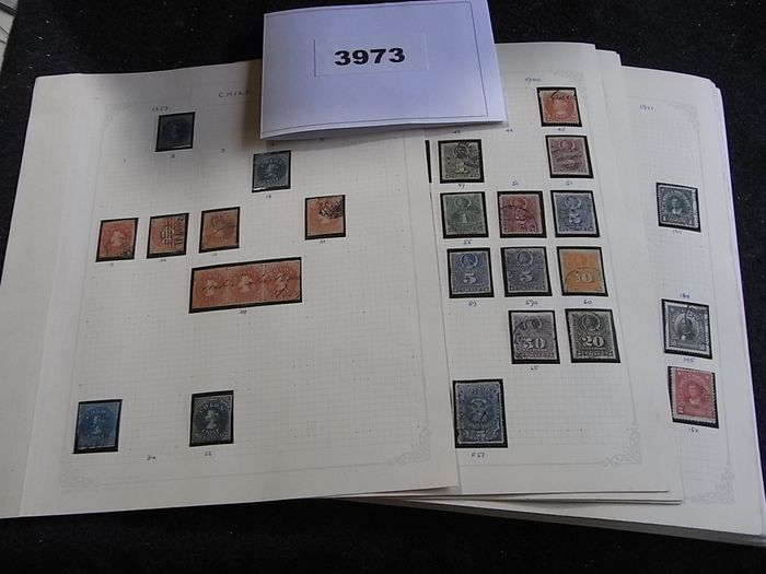 Chile 1853/1969 - Collection with great classics on old album pages