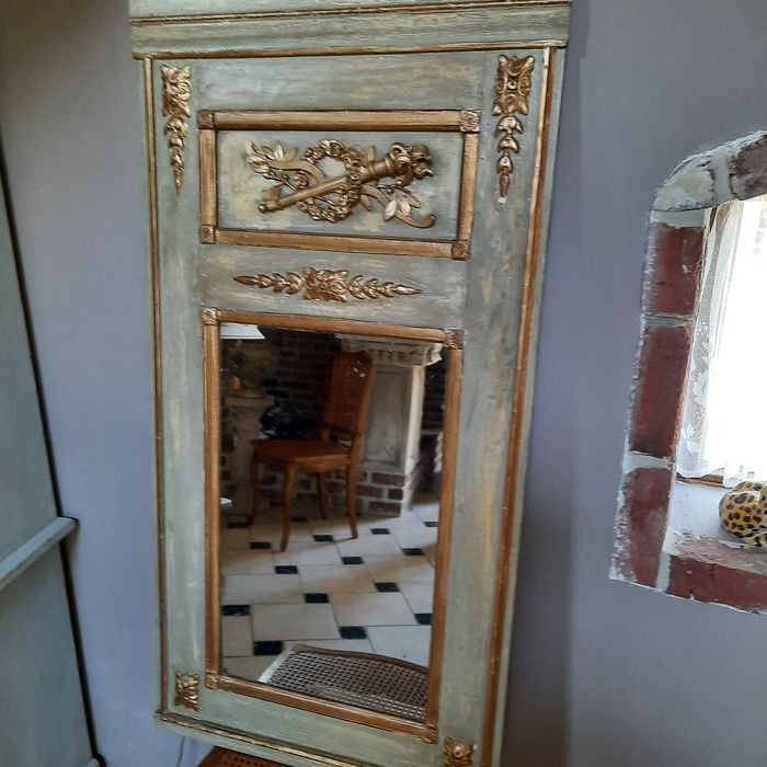 Overmantel mirror - Louis XVI Style - Soft wood - Late 19th / early 20th century