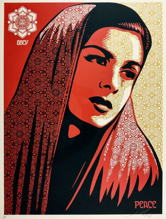 Shepard Fairey (OBEY) - Peace Mujer