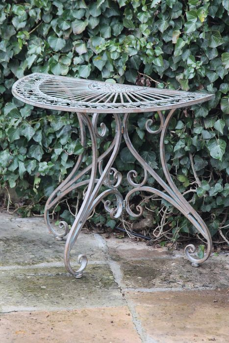 wall table for indoor or outdoor, 90 cm. wide - metal - recent