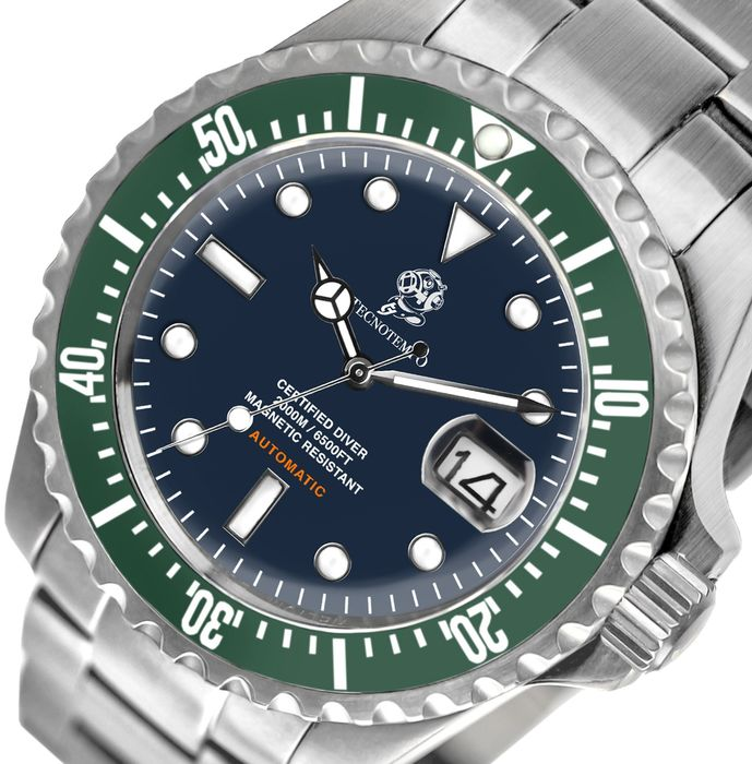 """Tecnotempo - -  """"NO RESERVE PRICE"""" - """"Special Edition Diving Helmet"""" 2000M / 6500FT  - LIMITED EDITION 100PCS - - TT.2000.BV (Blue/Green) - Uomo - 2011-presente"""